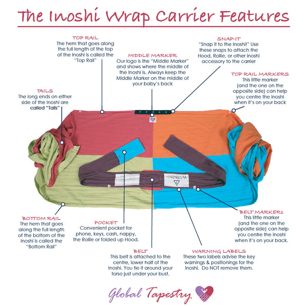 Global Tapestry - Inoshi Wrap Carrier Features