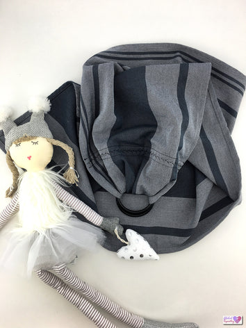 Doll Ring Sling - Mono Grey