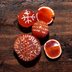 Etched Carnelian Beads