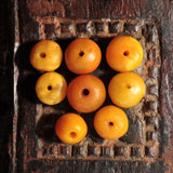 AC 106 Eight Antique Natural Amber Round Beads-Morrocco
