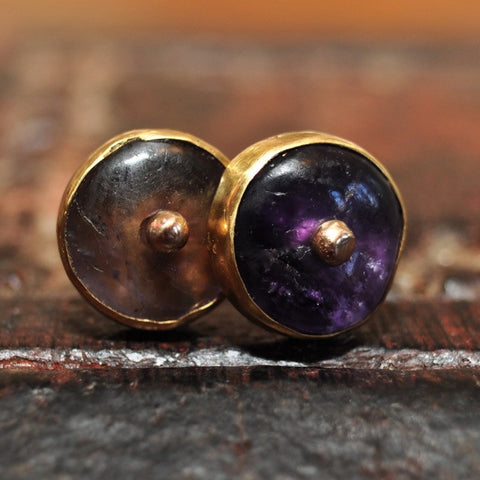 AP 120 Pair of Ancient Pyu Amethyst Earrings