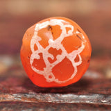 EC 110 High Quality Etched Carnelian Tabular Bead