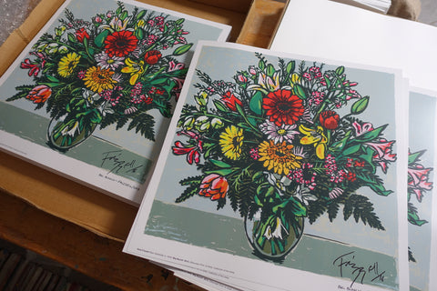Hand-signed 'Big Bunch' print