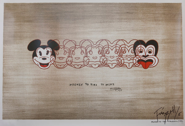 SIGNED MICKEY TO TIKI TU MEKE