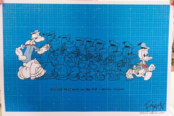 Hand-signed 'Popduck' print