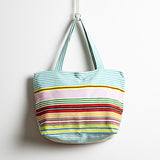 Perfecto Everyday Tote Aqua Stripe