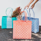 Mexi Woven Plastic Tote Large
