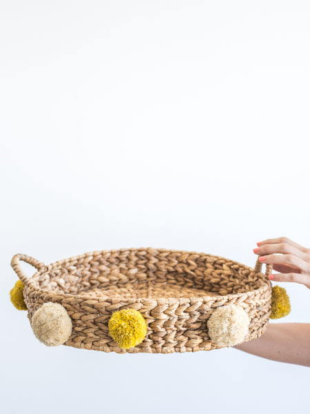 Pom Pom Tray Yellow