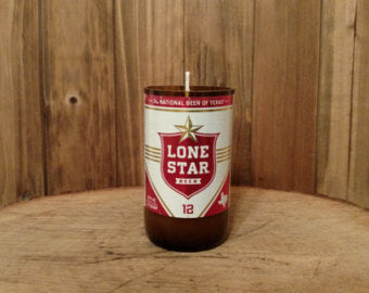Lone Star Beer Candle