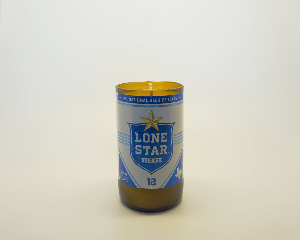 Lone Star (Blue) Beer Candle