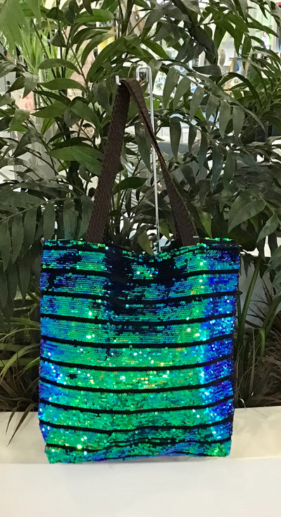 Sequin Bag - Blue/Green