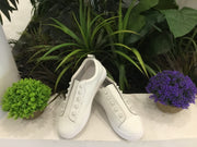 White Pearl Leather Sneaker