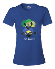 LIVE TO FLY - Women's T - Happy Fun Store    - 2