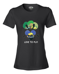 LIVE TO FLY - Women's T - Happy Fun Store    - 5