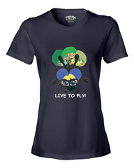 LIVE TO FLY - Women's T - Happy Fun Store    - 6