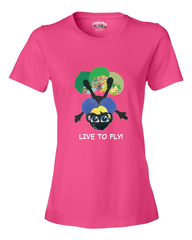 LIVE TO FLY - Women's T - Happy Fun Store    - 1