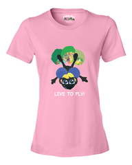 LIVE TO FLY - Women's T - Happy Fun Store    - 3