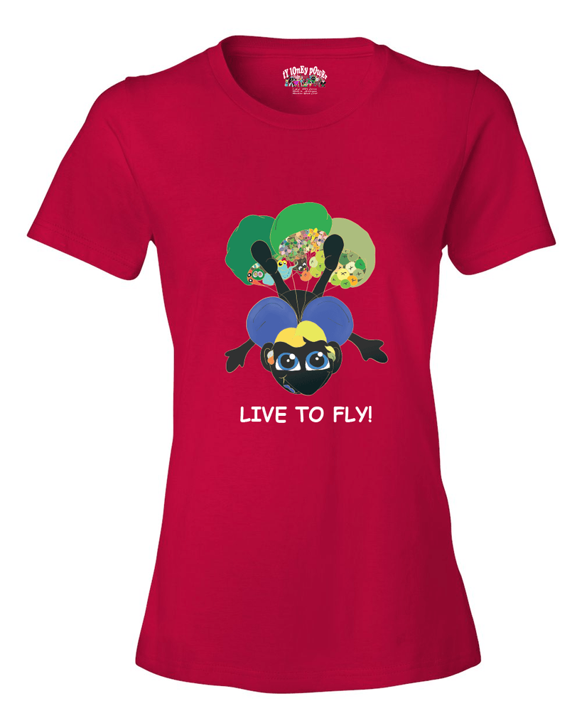 LIVE TO FLY - Women's T - Happy Fun Store    - 4