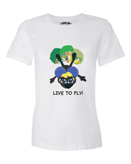 LIVE TO FLY - Women's T - Happy Fun Store    - 7
