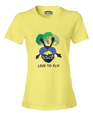 LIVE TO FLY - Women's T - Happy Fun Store    - 8
