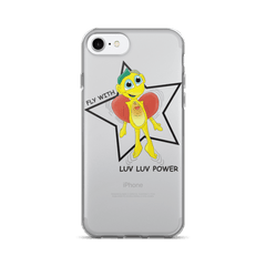 Fly with luv luv power Iphone case