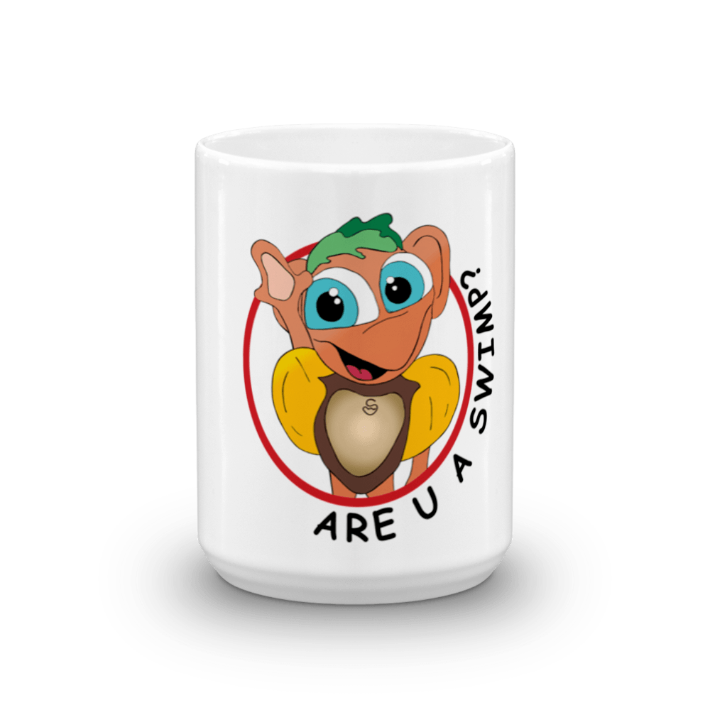 Are U A SWIMP? 15 oz. Mug - Happy Fun Store    - 1