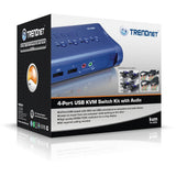 TRENDnet 4-Port KVM Switch Kit TK-409K
