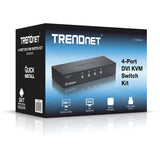 TRENDnet 4-Port DVI KVM Switch Kit TK-422DVK
