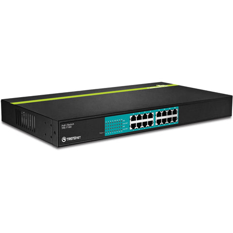 16 Port 30 Watt 10/100Mbps PoE+ Switch TPE-T160