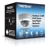 TRENDnet Outdoor PoE Dome Day/Night Camera TV-IP311PI