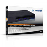 TRENDnet 8-Port VGA PS2 Stackable KVM Switch TK-802R