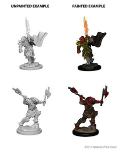 DND UNPAINTED MINIS WV4 DRAGONBORN FEMALE FIGHTER