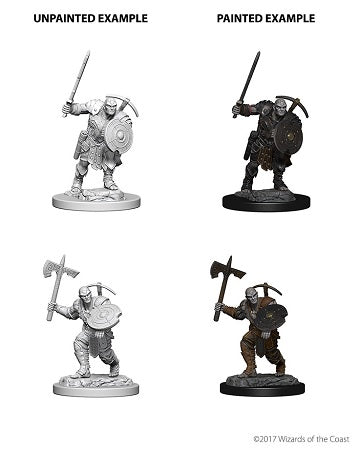 DND UNPAINTED MINIS WV4 EARTH GENASI MALE FIGHTER