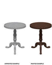 WIZKIDS UNPAINTED MINIS WV5 SMALL ROUND TABLES