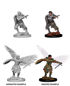 DND UNPAINTED MINIS WV6 MALE AASIMAR FIGHTER
