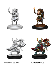 DND UNPAINTED MINIS WV6 FEMALE HALFLING FIGHTER