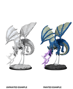 DND UNPAINTED MINIS WV8 YOUNG BLUE DRAGON