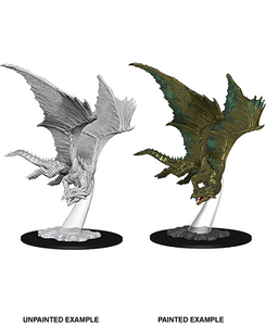 DND UNPAINTED MINIS WV9 YOUNG BRONZE DRAGON