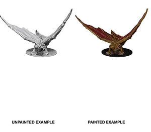 DND UNPAINTED MINIS WV9 YOUNG BRASS DRAGON