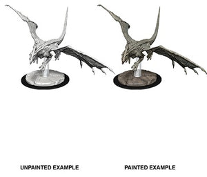 DND UNPAINTED MINIS WV9 YOUNG WHITE DRAGON