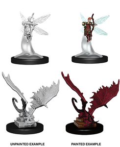 DND UNPAINTED MINIS WV9 SPRITE AND PSEUDODRAGON
