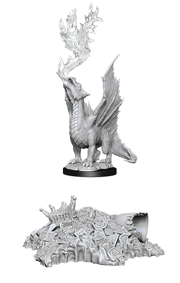 DND UNPAINTED MINIS WV11 GOLD DRAGON WYRMLING