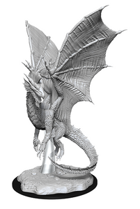 DND UNPAINTED MINIS WV11 YOUNG SILVER DRAGON