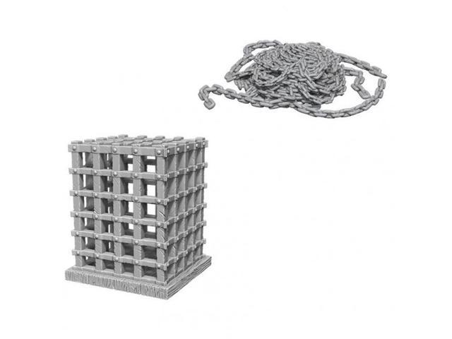 WIZKIDS UNPAINTED MINIS WV6 CAGE AND CHAINS
