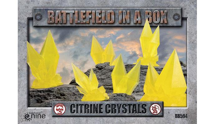 GF9; Battlefield in a Box: Citrine Crystals - YELLOW