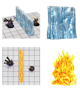 D&D EFFECT; WALL OF FIRE & ICE