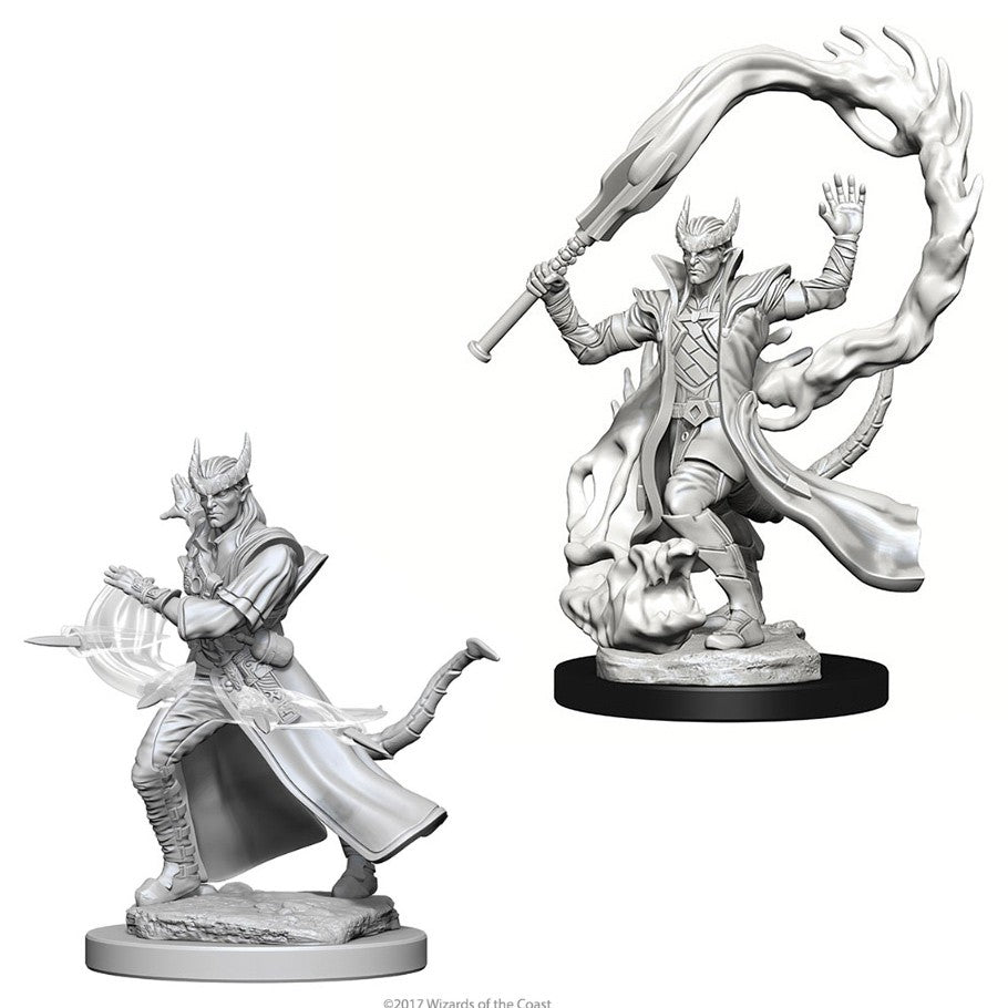 DND UNPAINTED MINIS WV4 TIEFLING MALE SORCERER
