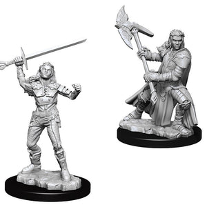 DND UNPAINTED MINIS WV7 FEMALE HALF-ORC FIGHTER