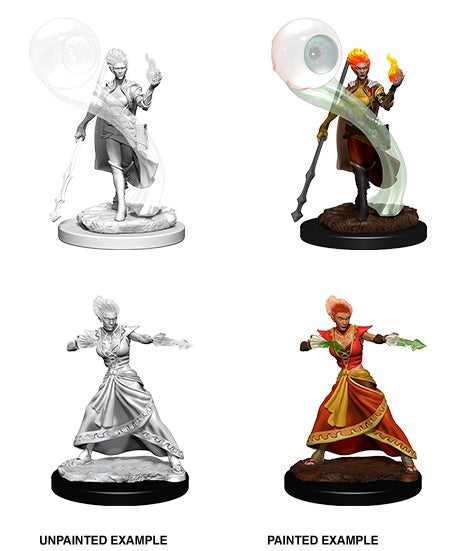 DND UNPAINTED MINIS WV5 FIRE GENASI FEMALE WIZARD