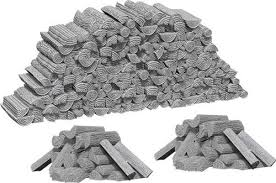 WIZKIDS UNPAINTED MINIS WV10 PILES OF WOOD